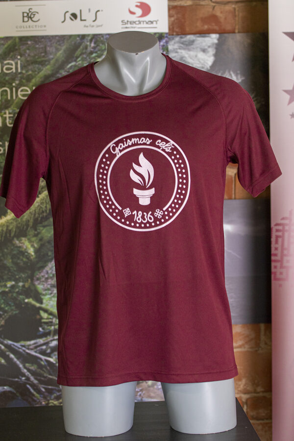 """T-krekls  apdrukāts ar """" Gaismas ceļa"""" skrējiena  simboliku"""