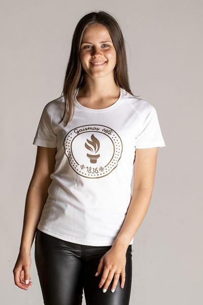 """2. dizains - Sieviešu tops apdrukāts ar """" Gaismas ceļa"""" skrējiena oficiālo  simboliku"""