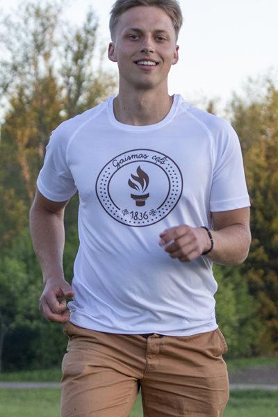 """1. dizains - T-krekls  apdrukāts ar """" Gaismas ceļa"""" skrējiena oficiālo  simboliku"""