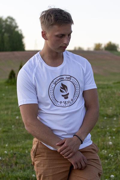 """2. dizains - T-krekls  apdrukāts ar """" Gaismas ceļa"""" skrējiena oficiālo  simboliku"""