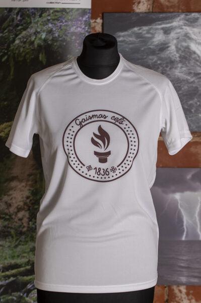 """Bērnu T-krekls apdrukāts ar """" Gaismas ceļa"""" skrējiena oficiālo simboliku."""